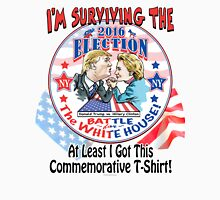 Trump VS Hillary Arm Wrestling 2016 Womens Fitted T-Shirt