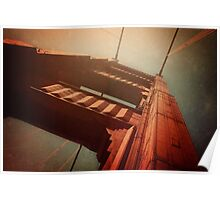 The Towering Golden Gate Poster