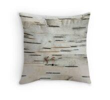 Birch Tree Bark Throw Pillow