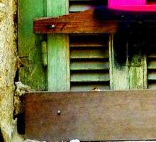 Graffiti window. Sticker