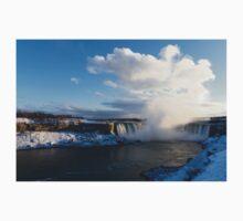 Niagara Falls - Horseshoe Winter Panorama Kids Tee