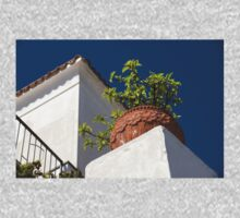 Contemplating Mediterranean Vacations - Red Tile Roofs and Terracotta Flowerpots One Piece - Long Sleeve