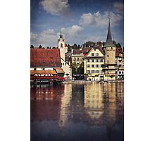 A Reflection of Lucerne Photographic Print