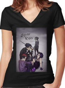 The Goth Kids Women's Fitted V-Neck T-Shirt