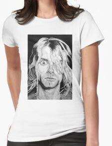 Portrait Kurt Kobain Womens Fitted T-Shirt