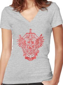 KGB - Committee for State Security RED Women's Fitted V-Neck T-Shirt