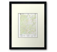 USGS TOPO Map Alabama AL Addison 20110921 TM Framed Print