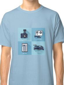 Modern Technologies. Professional Photo and Video Camera, Extreme Camera and Smart Phone.  Classic T-Shirt