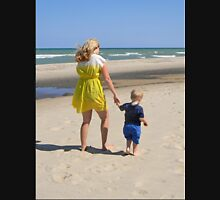 Mother and Son at the Beach Unisex T-Shirt