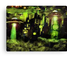 ufo invasion Canvas Print