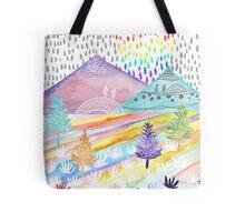 Watercolour Landscape Tote Bag