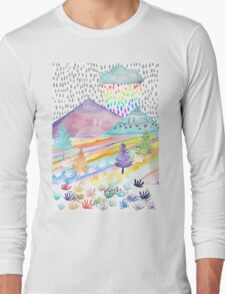 Watercolour Landscape Long Sleeve T-Shirt
