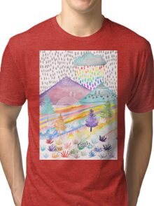 Watercolour Landscape Tri-blend T-Shirt