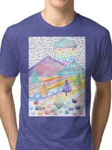 Watercolour Landscape Tri-blend T-Shirt