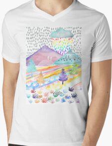 Watercolour Landscape Mens V-Neck T-Shirt