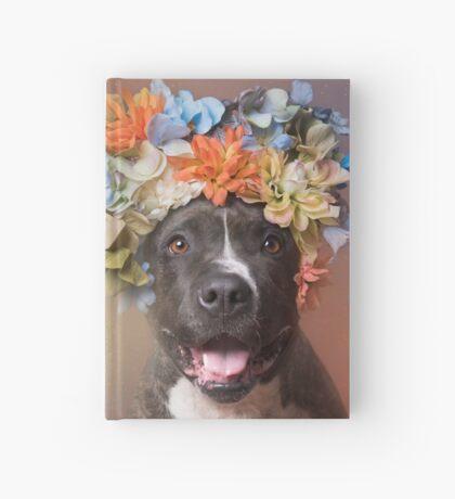 Flower Power, Angel smiling Hardcover Journal