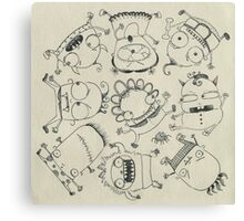 Baby Monsters Canvas Print
