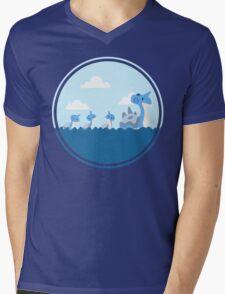 Lapras and kids Mens V-Neck T-Shirt