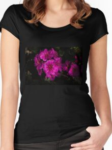 Shocking Pink and Fuchsia - a Vivid Succulent Bouquet Women's Fitted Scoop T-Shirt