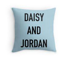 Daisy and Jordan Throw Pillow