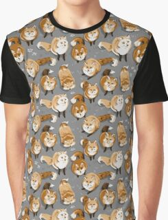 Fox Village Pattern Graphic T-Shirt