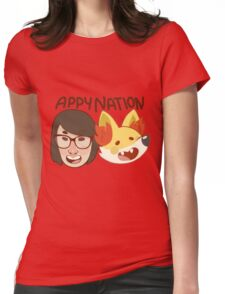 Appy Nation!  Womens Fitted T-Shirt
