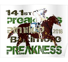141st Preakness Triple Crown  Horse Racing Poster