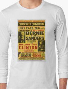Bernie vs. Hillary poster Long Sleeve T-Shirt