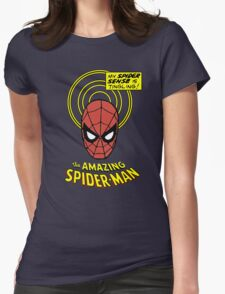 Retro Spiderman Spider Senses Spidey Shirt Womens Fitted T-Shirt