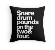 Prince - Snare Drums Pound on the Two & Four Throw Pillow