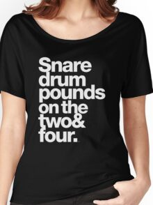 Prince - Snare Drums Pound on the Two & Four Women's Relaxed Fit T-Shirt