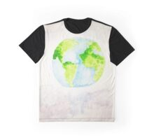 Wonderful Planet Earth WaterColor Graphic T-Shirt