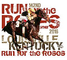 142nd Run for the Roses 2016 Triple Crown Horse Racing Photographic Print