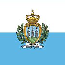 San Marino National Flag Stickers by Mark Podger