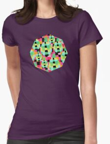 Pop-Pineapple Womens Fitted T-Shirt