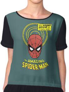 Retro Spiderman Spider Senses Spidey Shirt Chiffon Top