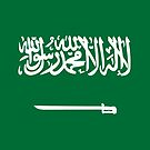 Saudi Arabia Flag Stickers by Mark Podger
