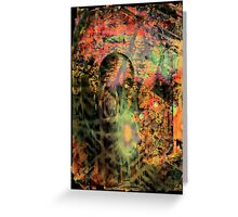 Sci-Fi Abstraction Greeting Card