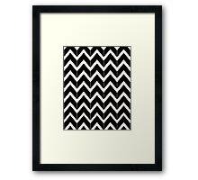 Black & Ivory Framed Print
