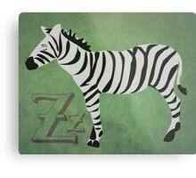 Sleepy Zzzebra Metal Print