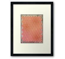 Neon Knit Framed Print