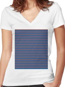 VERTICAL LAYER Women's Fitted V-Neck T-Shirt