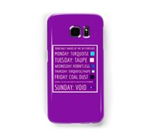 Daily Forecast - with colour! Samsung Galaxy Case/Skin