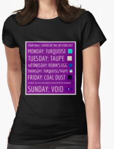 Daily Forecast - with colour! Womens Fitted T-Shirt