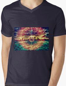 Eye of the Danelion Mens V-Neck T-Shirt