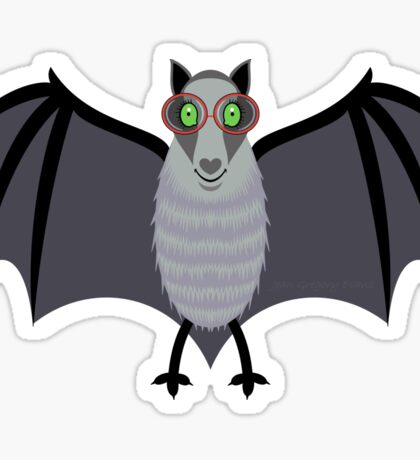 BAT WITH IMPROVED VISION Sticker