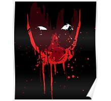 Bloody Deadpool Mask Poster
