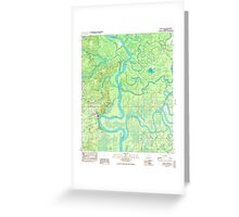 USGS TOPO Map Alabama AL Bilbo Island 654274 1983 24000 Greeting Card