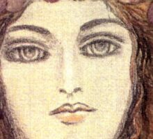 MYSTIC EYES - BEAUTIFUL ART NOUVEAU WOMAN with Flowers in the Hair Sticker