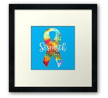 Strength Abstract Ribbon Framed Print